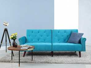 copricuscino divano amazon Amazon.com: Divano Roma Furniture Modern Tufted Velvet Splitback Recliner Sleeper Futon Sofa with Nailhead Trim (Blue): Kitchen & Dining Esclusivo 6 Copricuscino Divano Amazon