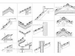 cucina self service dwg Roof Section Details -, Blocks, free, file.,, design Eccezionale 5 Cucina Self Service Dwg