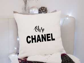 Cuscini Decorativi Chanel, Magnifico Chanel ~ Oh So Chanel ~ Cushion Pillow Including Infill Natural Or Black