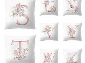 Cuscini Decorativi, Loveable Englisch Alphabet Cushion Cover Flower 45X45Cm Children'S Room Decoration Letter Pillow Cover Cuscini Decorativi 2019-In Cushion Cover From Home & Garden On
