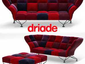 Cuscini Divano 3D, Completare 33 Cuscini Sofa By Driade With Poof, 3D Model