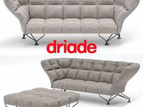 cuscini divano 3d ... 33 cuscini sofa by driade with poof 3d model, obj, 2 Semplice 5 Cuscini Divano 3D