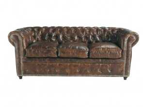 divani a maison du monde 3-Seater Leather Button Sofa in Brown, Maisons du Monde Eccezionale 6 Divani A Maison Du Monde