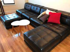 Divani Chateau D'Ax, Marino, Superiore Chateau D'Ax Italian Leather Sectional: Boston,, Trove Market