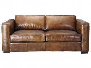 divano berlin maison du monde 3 seater distressed leather sofa, in brown Berlin Bellissima 5 Divano Berlin Maison Du Monde