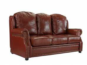 Divano Chateau D'Ax America, Esotico Details About Leather Sofa 3 Seater, Living Room Couch With Nailhead Trim (Light Brown)