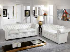 divano chester o chesterfield Chesterfield sofa / leather / 2-person / white, CHESTER BIANCO Locale 4 Divano Chester O Chesterfield
