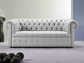 divano chesterfield capitonne Chesterfield sofa / leather / 3-seater / gray -, CHESTER Incredibile 6 Divano Chesterfield Capitonne