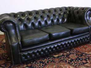 Deale 4 Divano Chesterfield Verde 3 Posti