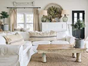 Divano Country Ikea, Locale Back Living Room, The Beginning.. Great Cottage Style, Farmhouse Style Home Decor Inspiration. Ikea Sofa, Ikea Sectional