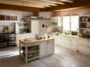 Divano Cucina Stile Country, Classy Cucina Country, Isola, Tempora Country