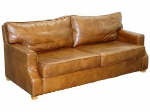 Divano Frau Vintage, Divertente Poltrona Frau Linea A Two-Seat Sofa By Peter Marino Brown Heritage Leather At 1Stdibs