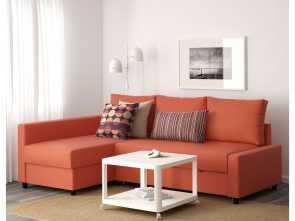 Divano Friheten Misure, Magnifico Friheten Corner Sofa, With Storage Skiftebo Dark Orange