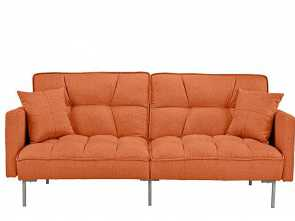 divano futon amazon Amazon.com: Divano Roma Furniture Collection, Modern Plush Tufted Linen Fabric Splitback Living Room Sleeper Futon (Orange): Kitchen & Dining Esclusivo 4 Divano Futon Amazon