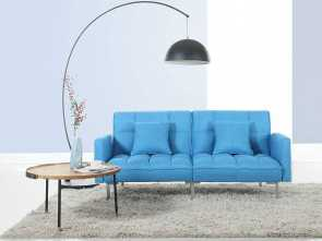 Divano Futon Amazon, Elegante Amazon.Com: Divano Roma Furniture Collection, Modern Plush Tufted Linen Fabric Splitback Living Room Sleeper Futon (Blue): Kitchen & Dining