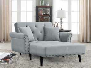 Divano Futon Amazon, Casuale Amazon.Com: Divano Roma Furniture Modern Velvet Fabric Recliner Sleeper Chaise Lounge, Futon Sleeper Single Seater With Nailhead Trim (Light Grey): Kitchen