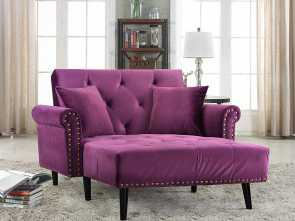 Divano Futon Amazon, Bella Amazon.Com: Divano Roma Furniture Modern Velvet Fabric Recliner Sleeper Chaise Lounge, Futon Sleeper Single Seater With Nailhead Trim (Purple): Kitchen &