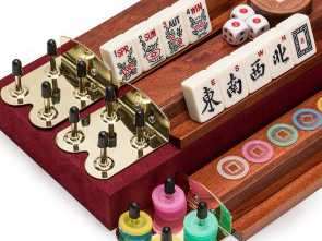 divano mah jong amazon Amazon.com: Yellow Mountain Imports American Mahjong Set,, Classic, Vintage Rosewood Veneer Case, Wooden Racks Included, 1930s Inspired Tiles Made Migliore 5 Divano, Jong Amazon