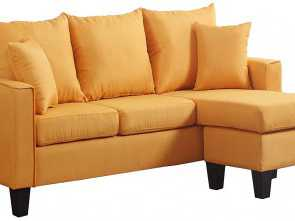 Divano Ottomana Berloni, Deale Amazon.Com: Divano Roma Furniture Modern Linen Fabric Small Space Sectional Sofa With Reversible Chaise (Yellow): Kitchen & Dining