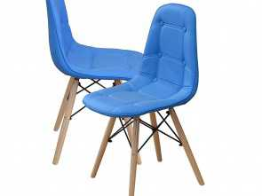 Divano Patchwork Amazon, Eccezionale Amazon.Com, Divano Roma Furniture Modern, Of Tufted 2 Eames Style Chair Natural Wood Legs (Sky Blue), Chairs