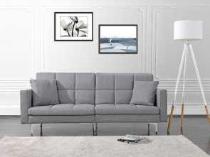 Divano Roma Furniture Modern Plush Tufted Linen Futon, Locale Details About Modern Plush Tufted Splitback Living Room Futon, Sofa, Light Grey