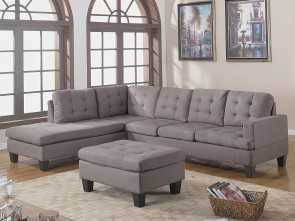 Divano Roma Furniture Modern Tufted Leather Sofa & Ottoman, Divertente Amazon.Com: Divano Roma Furniture 3-Piece Reversible Chaise Sectional Sofa With Ottoman, Grey Charcoal: Kitchen & Dining