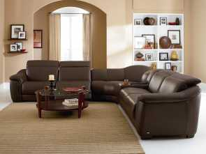 Divano Samoa Urban, Grande B641 Contemporary Leather Reclining Sectional Sofa With Built In Speakers, Storage Console By Natuzzi Editions, Baer'S Furniture, Reclining Sectional