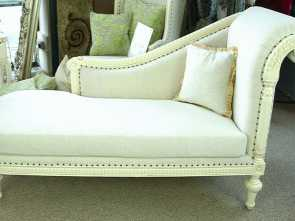 divano shabby chic ebay Stone Ornate French Shabby Chic Linen Antique White Chaise Longue Incredibile 4 Divano Shabby Chic Ebay