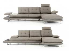 Divano Sofa Team, Esotico Amazon.Com: Divani Casa Porter Modern Grey Fabric Sectional Sofa Grey/Grey/Right Facing Chaise: Kitchen & Dining