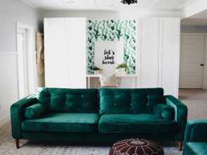 divano velluto ikea Custom green velvet slipcovers from Comfort Works as featured on Oh My Dear Blog. These Completare 4 Divano Velluto Ikea