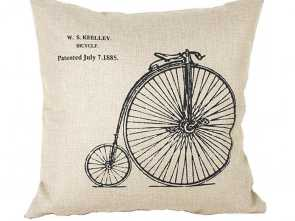 Federe Cuscini Grandi, Bello Ineguagliabile Luxbon-Cotton Lino Throw Pillow Covers Cuscino Decorativo Federa Bike, Ruota Grandi E Piccole