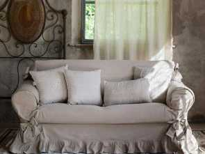fodera divano shabby chic soft, shaggy : blue linen sofa covering, shabby chic., Slipcovers ...for sofas & chairs. & etc.... cushions. .., 2019, Pinterest, Shabby chic so… Favoloso 4 Fodera Divano Shabby Chic