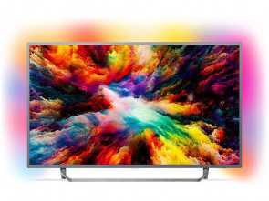 formula distanza tv divano PHILIPS TV, Ultra HD 4K, 65PUS7303/12 Android TV Ambilight ultra sottile Bello 6 Formula Distanza Tv Divano