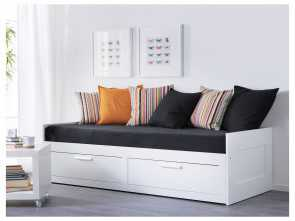 futon 1 place ikea BRIMNES Daybed frame with 2 drawers, white Bellissimo 6 Futon 1 Place Ikea