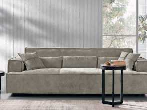 g divani flour Contemporary sofa / leather / 3-seater / brown, OPLÀ, maxdivani Sbalorditivo 6 G Divani Flour