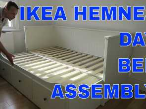 hemnes letto video IKEA HEMNES Day-bed frame with 3 drawers assembly Incredibile 4 Hemnes Letto Video