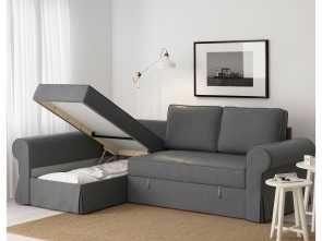 ikea backabro grau BACKABRO Sofa, with chaise longue Nordvalla dark grey Grande 5 Ikea Backabro Grau
