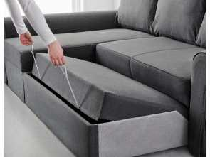 ikea backabro grey BACKABRO Sofa, with chaise longue Nordvalla dark grey Costoso 6 Ikea Backabro Grey