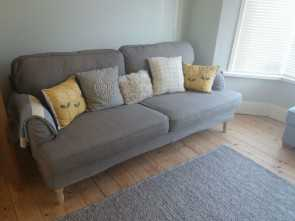 Ikea Backabro Gumtree, Bello Ikea 3 Seater Stocksund Sofa Grey Beige Bought 2017 Never Used Selling, To Move In Llandudno Junction Conwy Gumtree