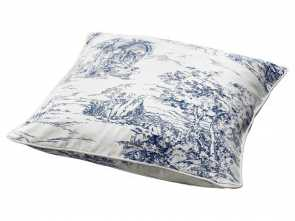 Ikea Cuscino Interno, Divertente Blue & White Cushion Cover By Ikea. This Would Look Great On A, Leather