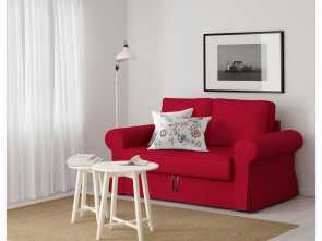 ikea divano backabro BACKABRO Two-seat sofa-bed Nordvalla red Sbalorditivo 5 Ikea Divano Backabro
