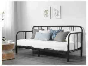 Ikea Divano Letto Fyresdal, Loveable FYRESDAL Daybed With 2 Mattresses, Black, Minnesund Firm, Sofa