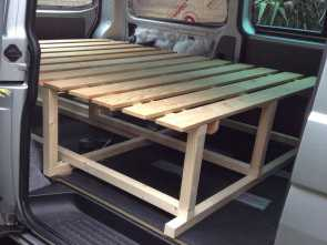 Ikea Futon Vw T5, Classy View To, Left Shows, Ikea, Frame Being Incorporated, The, In Retracted Position. In This Configuration, Frame Will Provide A Bench Seat
