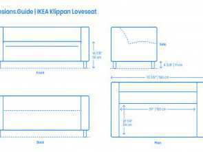 Ikea Klippan Loveseat Dimensions, Semplice IKEA Klippan Loveseat Dimensions & Drawings, Dimensions.Guide