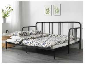 Ikea Letto Divano Fyresdal, Migliore IKEA FYRESDAL Day-Bed With 2 Mattresses, Functions In,, Sofa In, Day, Bed At Night
