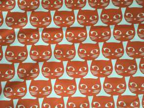 Ikea Stoffe.Com, Modesto IKEA, Fabric Mattram Orange Cats By, Half Yard