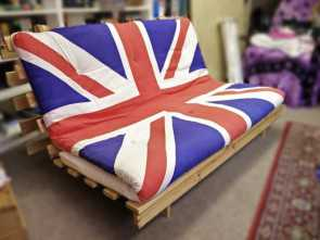 ikea union jack futon Classic IKEA Kvidinge wooden futon with Union Jack mattress (limited edition, no longer in stores), in Portsmouth, Hampshire, Gumtree Eccezionale 6 Ikea Union Jack Futon