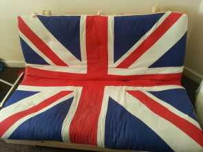 Ikea Union Jack Futon, Esclusivo Ikea Union Jack Futon Double Great Condition, In Moortown, West Yorkshire, Gumtree