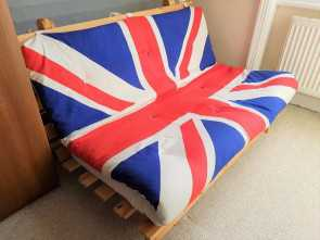 Ikea Union Jack Futon, Buono Union Jack Fold-Out Couch Sofa, From IKEA, In West Hampstead, London, Gumtree