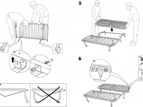 Ikea Wooden Futon Assembly Instructions, A Buon Mercato Amazing Ikea Futon Instructions Lycksele Frame Sofabed
